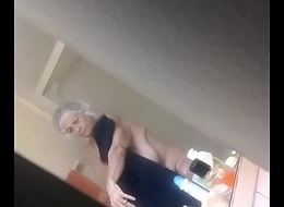 Spying on Big Tits Granny After Shower #2