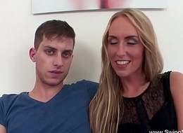 Blonde Rides BBC For Husband