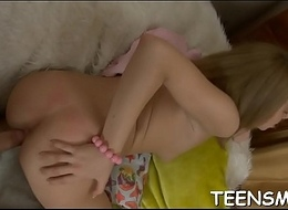 Legal age teenager in a hot trio fun